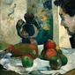 Reprodukcja still life with profile of laval, gauguin paul