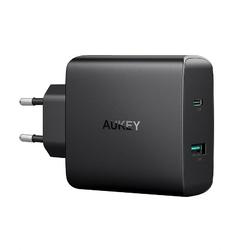 Aukey ładowarka sieciowa ultraszybka pa-y10 2xusb power delivery 3.0 5.1a 46w