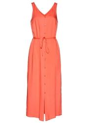 Sukienka z plisą guzikową bonprix łososiowy