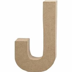 Litera z papier mache 20,5x2,5 cm - J - J