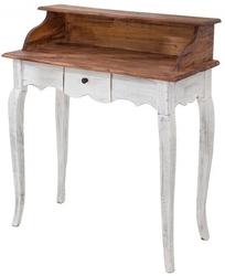 Biurko-sekretarzyk z szufladą Libby vintage mahoń