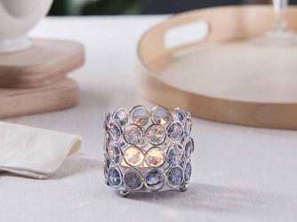 Świecznik ozdobny z kryształkami na tealight  podgrzewacze altom design sky
