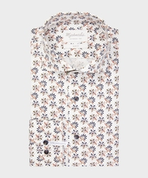 Biała koszula michaelis w kwiaty 44