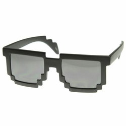 Pikselowe Okulary 8 bit - Czarne