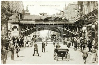 Plakat pocztówka friedrichstrasse