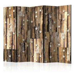 Parawan 5-częściowy - drewniany gwiazdozbiór ii parawan