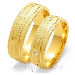 Obrączki ślubne złoty skorpion – wzór au-o130