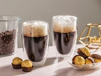 Szklanki z podwójną ścianką i dnem termiczne do napojów altom design andrea, 380 ml komplet 2 szklanek