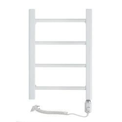 Grzejnik łazienkowy wetherby - grzejnik elektryczny, wykończenie proste, 400x600, biały