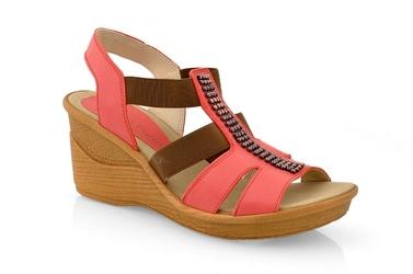 Sandały nik 07-0182-002 czerwony