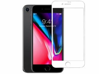 Szkło Mocolo 3D na cały ekran do Apple iPhone 8 białe - Biały