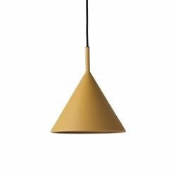 HK Living :: Lampa wisząca Triangle metalowa musztardowa, rozm M