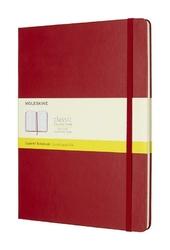 Notes Moleskine w twardej oprawie XL czerwony w kratkę