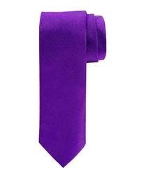 Elegancki fioletowy krawat jedwabny