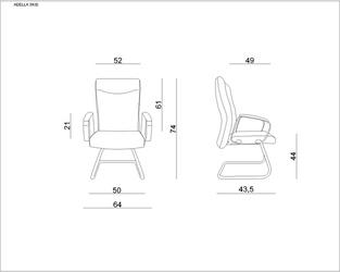 Fotel do sal konferencyjnych adella skid