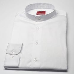 Elegancka biała koszula męska van thorn slim fit ze stójką 45