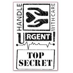 Stempel akrylowy Stamperia - Top Secret - 040