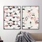 Zestaw dwóch plakatów - rubin design , wymiary - 50cm x 70cm 2 sztuki, kolor ramki - czarny