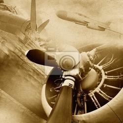 Fototapeta retro lotnictwo, zabytkowe tło