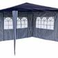 Namiot ogrodowy 3x3 m, niebiesko-biały pawilon handlowy