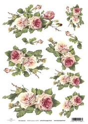 Papier ryżowy ITD A4 R423 róże