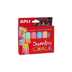 Kredy jumbo apli kids - 6 kolorów