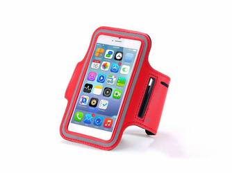 Etui na ramię sportowe do biegania na telefon do 5.5 cala czerwone - Czerwony