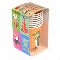 Papierowe kubki, Kolorowe Zwierzaki, 8 szt, Rex London