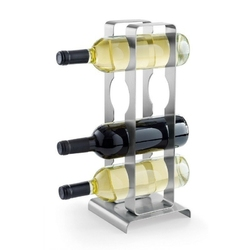 Zack - stojak na 4 butelki wina fonare - stal nierdzewna matowa