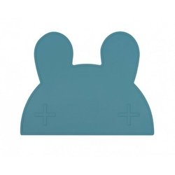 Silikonowa podkładka we might be tiny -  niebieski króliczek