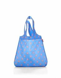 Siatka mini maxi shopper azure dots