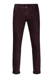 Spodnie męskie śliwkowe typu chino 48