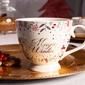 Duży kubek porcelanowy jumbo na stópce święta boże narodzenie altom design magic winter biały 400 ml