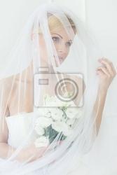 Fototapeta ślub. piękna panna młoda