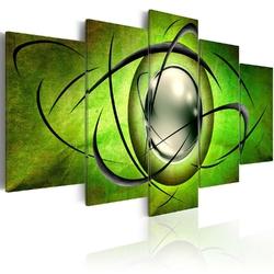 Obraz - wirująca kula - zieleń