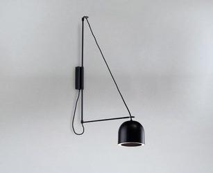Shilo :: lampa ścienna kabe semicircular czarna