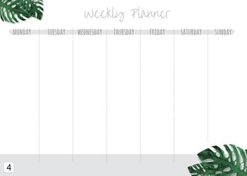 Tablica suchościeralna weekly planner 409
