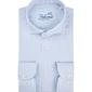 Męska biała koszula w niebieskie paski dobby 37