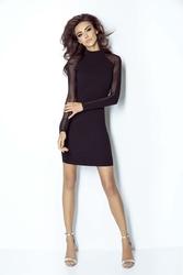 Mała czarna sukienka z transparentnym tyłem