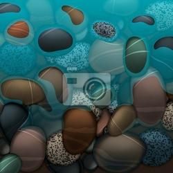 Fototapeta woda morska i kamienie kamienie, wektor eps10.