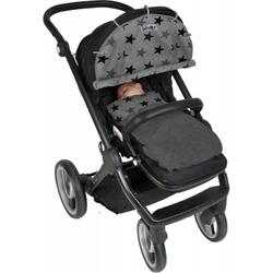 Osłonka dooky design do wózka i fotelika - grey stars