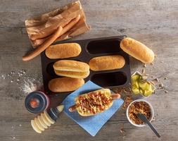 Forma do pieczenia bułek do hot dogów lurch flexiform lu-00085082