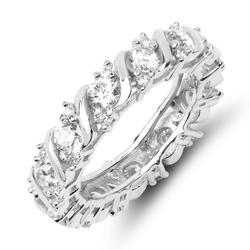 Cler srebrny pierścionek obrączka cyrkonie