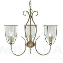 Silhouette lampa wisząca 3 antyczny mosiądz