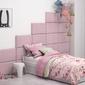 Różowe panele tapicerowane italia 60cm x 30cm na wezgłowie zagłówek