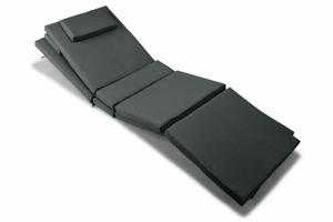 Zestaw 2 poduszki na leżaki 188 cm antracyt