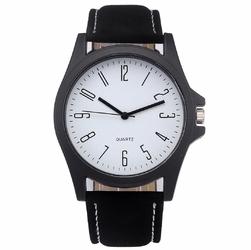 ZEGAREK MĘSKI klasyczny BIAŁA TARCZA czarny - black white dial