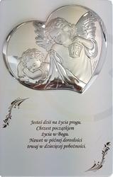 Ryngraf z powłoką srebra anioł z dzieckiem na chrzest vl8122bis3 - sprawdź dostępność