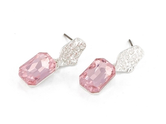 Kolczyki diamond rose - rose