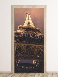 Fototapeta na drzwi fragment wieży eiffla fp 6290
